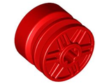 Wheel 18mm D. x 14mm with Axle Hole, Fake Bolts and Shallow Spokes, Red (55982 / 4570807 / 6280365)