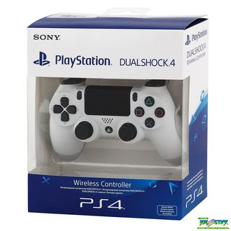 Геймпад для консоли PS4 PlayStation 4 DualShock 4 v2 White (CUH-ZCT2E)