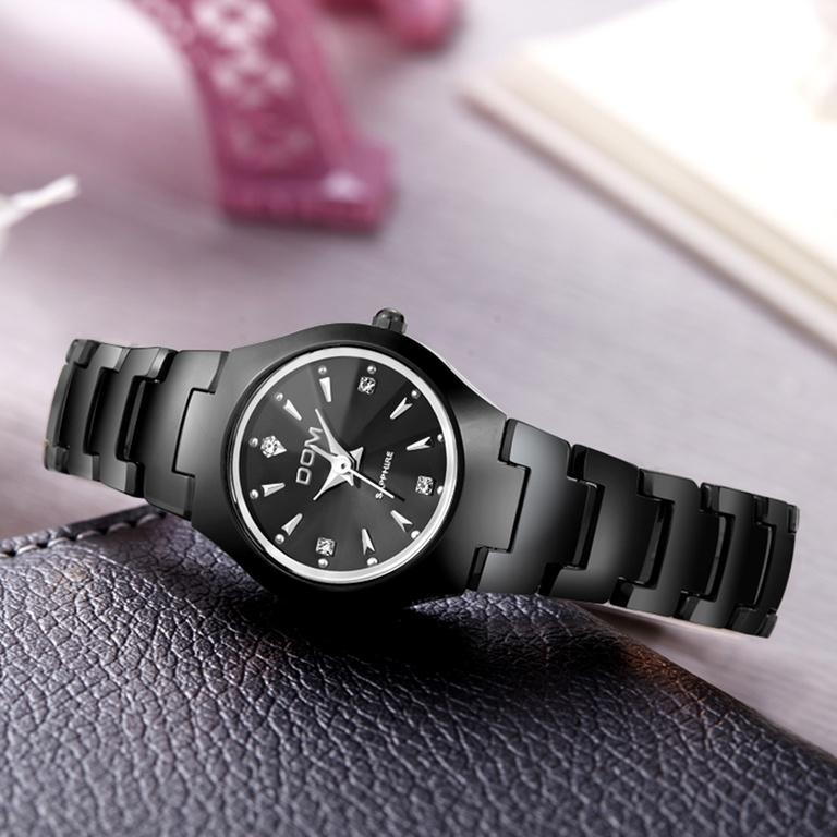 f3ec596b DOM Часы женские наручные водонепроницаемые из вольфрама