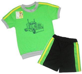 Комплект для мальчика (Артикул 2137-022) цвет зелёный