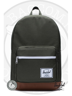 Herschel Pop Quiz Dark Olive/Saddle Brown