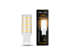 Gauss LED T19 5w 827/840 AC185-265v G9