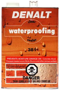 381 CLEAR WATERPROOFING SEALER, 3.78л.