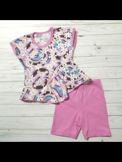 Комплект для девочки (Артикул 533-452) цвет розовый