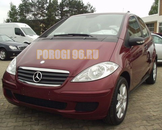 Защита радиатора Mercedec-Benz A-Klass II (W169) 2004-2007 black