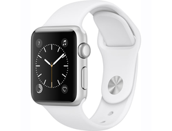 Apple Watch Series 1 38mm Silver Aluminium with White Sport Band