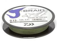 Шнур Daiwa J-Braid X4 Dark Green 0,21мм 135м