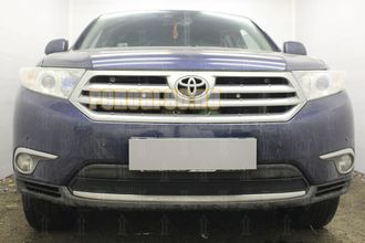 Защита радиатора Toyota HIGHLANDER U40 2010-2013 black