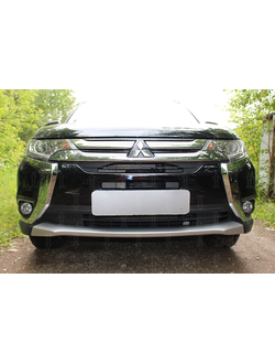 Защита радиатора Optimal Mitsubishi Outlander III 2015-нв (3 части). Код: Z033