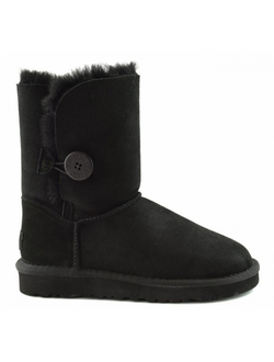 UGG BAILEY BUTTON II BLACK ЖЕНСКИЕ