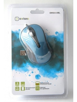 Мышь Oxion OMS010BL optical USB синяя