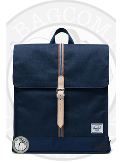 Herschel City Mid Volume Medieval Blue Crosshatch/Medieval Blue