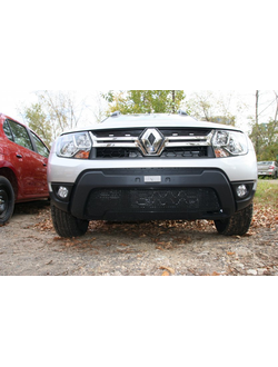 Premium защита радиатора для Renault Duster Authentique Expression (2015-) 1ч без накл. Код: mh106
