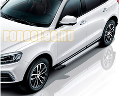 Пороги для Zotye Coupa (2018-...) Optima Silver