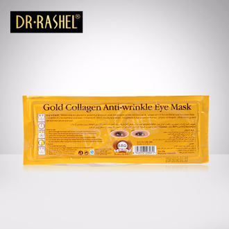 Маска для век Dr Rashel Gold Collagen Anti Wrinkle 24K против морщин 25 гр