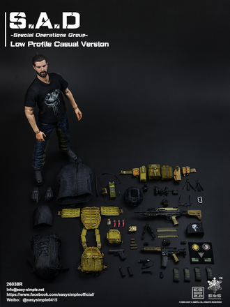 Спецназ ЦРУ - КОЛЛЕКЦИОННАЯ ФИГУРКА 1/6 scale S.A.D Special Operation Group Casual Version (26038R) - Easy&Simple