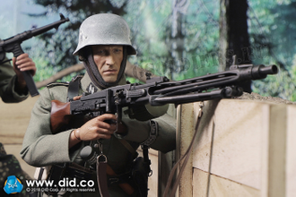 "1/6 scale Action figure WW2 SS Panzer Division Das Reich MG42 Gunner ""Dustin"" (D80130) - DID"