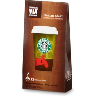 Starbucks VIA® Ready Brew Italian Roast- Итальян Роуст, растворимый, 12 пакетиков