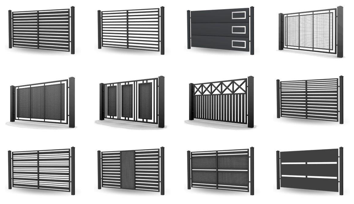 цена на откатные и распашные ворота - производство украина - select