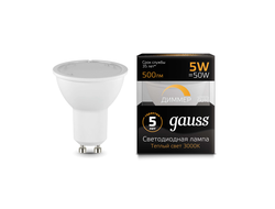 Gauss LED MR16 5w 830/840 220v Dim GU10