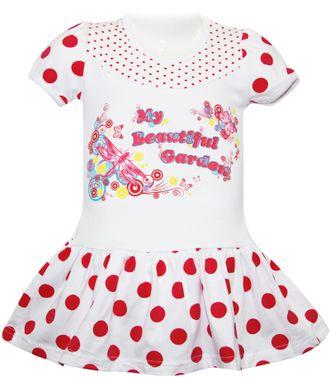 Платье для девочки (5123-453) цвет коралловый