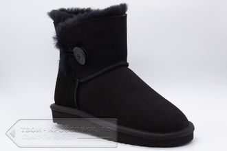 Угги UGG Australia Mini Bailey Button Black женские арт. U86