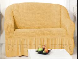 Чехол Стандарт на 2-х местный диван, цвет Медовый