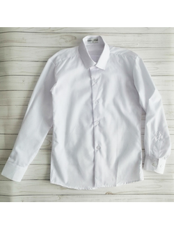 Рубашка с длинным рукавом, белая (Артикул 2199)