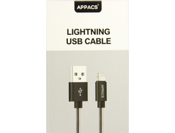 Кабель APPACS AP03202i, lightning (for iPhone), 5V/2.4A, 1 метр