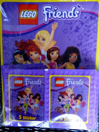 "Альбом для наклеек ""LEGO Friends (Лего Френдс)"" + набор наклеек LEGO Friends"