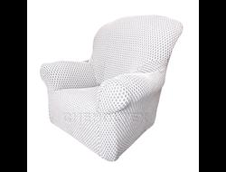 Чехол Соты на кресло, цвет Кремовый