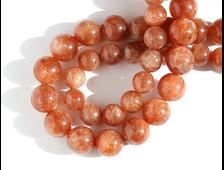 Бусина Солнечный камень, шар 8 мм (1 шт) №16661