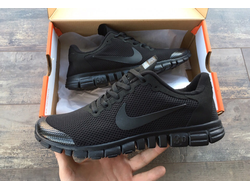 Кроссовки Nike Free 3.0 All Black , Blue , Grey