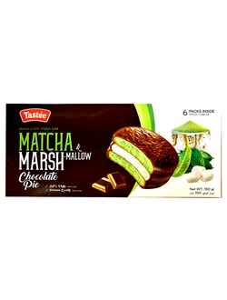 Вьетнамские пирожные Matcha Marshmallow Chocolate Pie с матчей