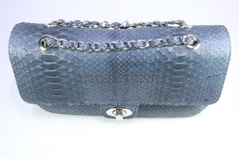 Серая сумка Шанель из питона CHANEL Арт  452 cba098d0c7d