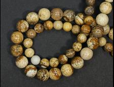 Бусины Яшма рисунчатая, шар 6 мм, цена за 1 нить около 39 см, 60 шт (вес 21 г) №18924