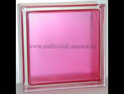 Стеклоблок Vitrablok окрашенный внутри арктика розовый