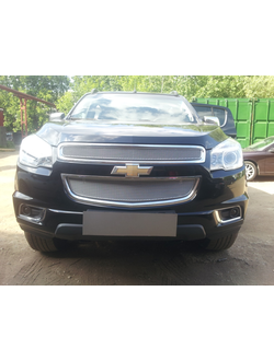 Защита радиатора Premium Chevrolet Trailblazer 2013-нв (2 части). Код: P011