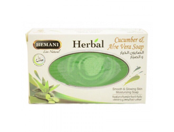 Мыло Herbal Hemani Cucumber & Aloe Vera soap