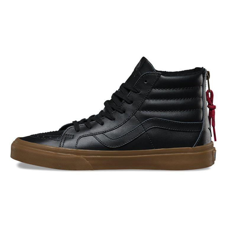 52d4f45bb1a6 Кеды Vans SK8-Hi V004KYJSF высокие черные кожаные
