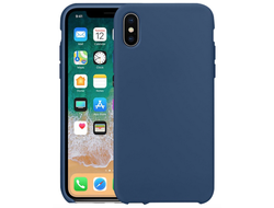 iPhone X Silicone Case синий