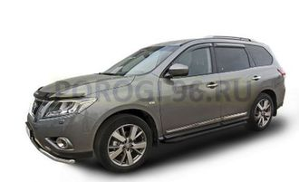 Пороги на Nissan Pathfinder R52 (2014-…) Black Optima