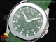 Aquanaut 5168G 42mm SS ZF 1:1 Best Edition Green Dial on Green Rubber Strap 324CS