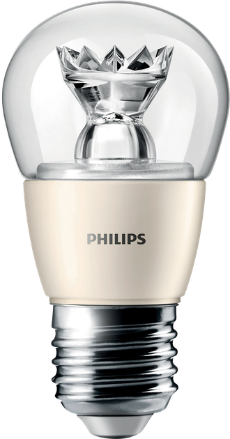 Лампа светодиодная Philips Master LED Lustre MV Dimmable 4w E27 P45CL 2700K 220-240v