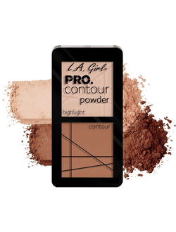 Пудра для контура L.A. Girl PRO.Contour Powder Highlight And Contour Duo 663 Natural