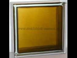 Стеклоблок Vitrablok окрашенный внутри гладкий бронзовый