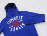 Толстовка / Худи SuperDry Eagles Синий Orign