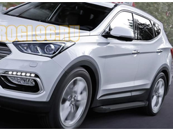Пороги на Hyundai Santa Fe (2012-…) Start Black