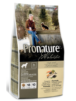 PRONATURE HOLISTIC Dog All Breeds Senior Mature/Less Active Oceanic White Fish/Wild Rice /  PRONATURE Original 19 Senior Dog Chicken  / ПРОНАТЮР ОРИДЖИНАЛ   для пожилых и малоактивных собак всех пород ОБЛЕГЧЕННЫЙ / ОКЕАНИЧЕСКАЯ БЕЛАЯ РЫБА & РИС 2,72 КГ