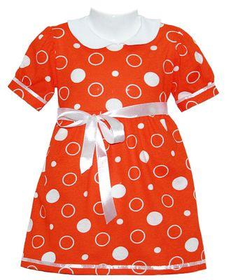 Платье для девочки (Артикул 579-013) цвет оранжевый